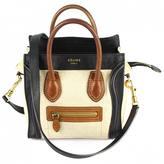 Celine Nano Luggage cloth crossbody bag