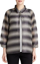 Lafayette 148 New York Ethereal Striped Topper