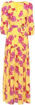 Borgo de Nor Salma Belted Floral-print Crepe De Chine Maxi Dress