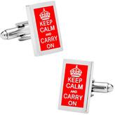Cufflinks Inc. Men's Keep Calm and Carry On Cufflinks