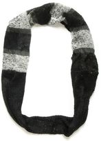 Boucle And Knit Sequin Loop Scarf