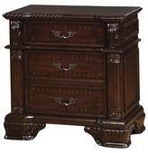 Furniture Of America Nightstand Burgundy Brown