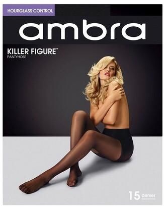 Ambra Killer Figure Hourglass 15 Denier Tights Black