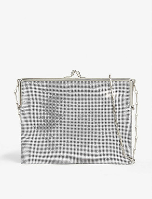 Paco Rabanne Metallic mesh shoulder bag