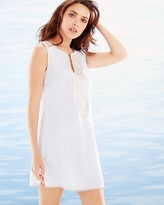 Soma Intimates Crochet Trim Sleeveless Cotton Cover Up White