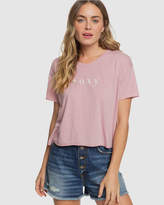 Roxy Womens Don't Look Back Cropped T Shirt