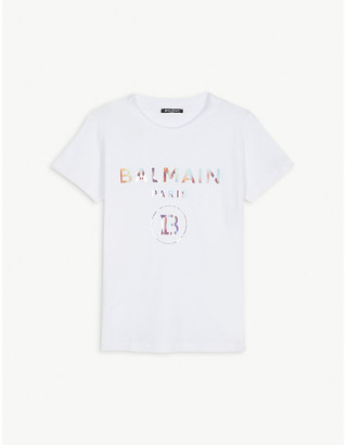 Balmain Rainbow logo cotton t-shirt 4-16 years