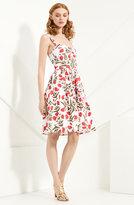 Poppy Print Stretch Cotton Dress