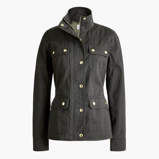 J.Crew Petite resin-coated twill field jacket
