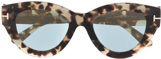 Tom Ford Slater tortoiseshell-effect sunglasses