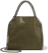 Stella McCartney Falabella Mini Faux Brushed-leather Shoulder Bag - Army green