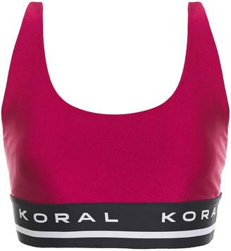 Koral Fame Limitless Jacquard-trimmed Stretch Sports Bra