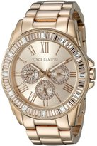 Vince Camuto Women's VC/5158RGRG Swarovski Crystal Accented Multi-Function Dial -Tone Bracelet Watch
