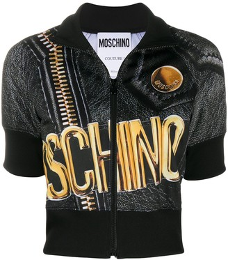 Moschino Macro Biker short-sleeve jacket
