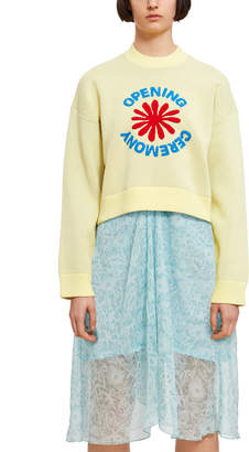 Opening Ceremony Cropped OC Flower Logo Sweater
