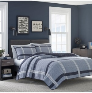 Nautica River Breeze Cotton Reversible Full/Queen Quilt Bedding
