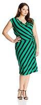 Calvin Klein Women's Plus-Size Striped Short Dress