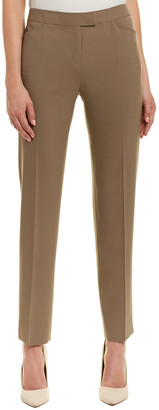 Lafayette 148 New York Narrow Leg Wool-Blend Ankle Pant