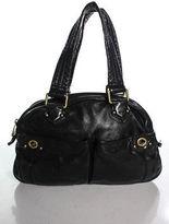 Marc by Marc Jacobs Black Leather Gold Tone Accented Shoulder Handbag