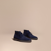 Burberry Crepe Sole Suede Desert Boots