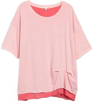 C&C California Riley Salt Wash Double Layer T-Shirt (Plus Size)