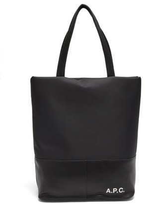 A.P.C. Camden Technical-canvas And Faux-leather Tote Bag - Black