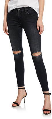 Current/Elliott The Stiletto Distressed Ankle Skinny Jeans