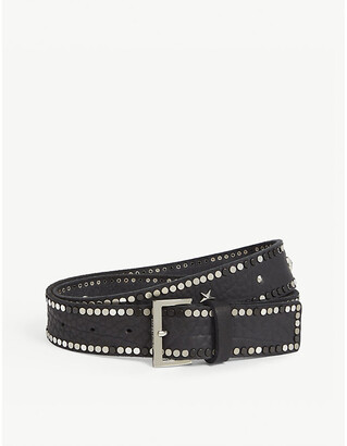 Zadig & Voltaire ZADIG&VOLTAIRE Starlight studded leather belt