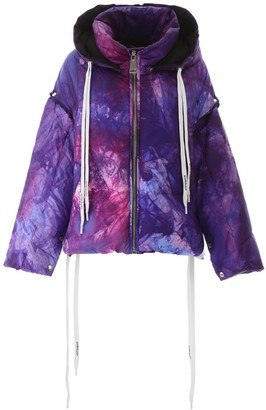 KHRISJOY Tie Dye Effect Padded Jacket