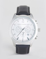 French Connection Watch With Silver Multi Functional Dial