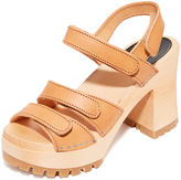 Swedish Hasbeens Velcra Sandals
