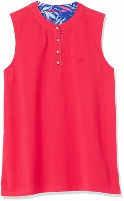 Caribbean Joe Women's Mandarin Collar Pique Knit Sleeveless Shirt