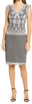 Tadashi Shoji Corded Lace Sleeveless Sheath Dress