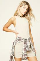 Forever 21 FOREVER 21+ V-Back Mini Dress