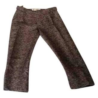 Marni \N Brown Linen Trousers