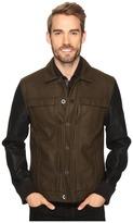 Calvin Klein Jeans Wool/Leather Trucker Jacket