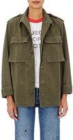 Icons Women's Herringbone Field Shirt-Dark Green