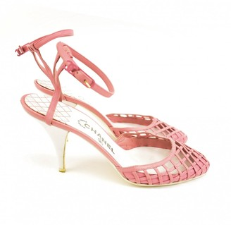 Chanel Pink Leather Heels