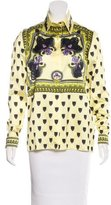 Givenchy Panther Long Sleeve Blouse