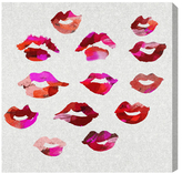 Oliver Gal Those Lips Glitter (Canvas)