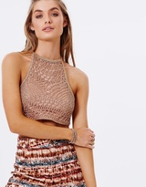 Honeycomb Halter Top