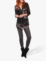 Mint Velvet Agnes Abstract Print Zip Front Blouse, Multi
