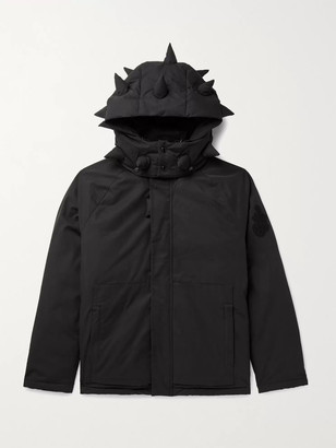 MONCLER GENIUS + 1 Jw Anderson Logo-Appliqued Cotton-Blend Shell Down Hooded Jacket