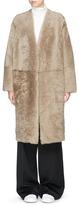 Vince Reversible lambskin shearling long coat