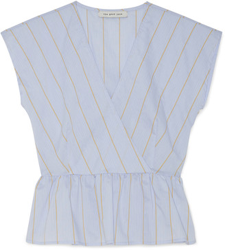 Sole Society The Good Jane Women's Lullaby Lucy Top In Color: Baby Blue Stripe Size XS From