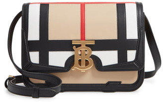 Burberry Small TB Patchwork Leather Crossbody Bag