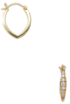 Ila Harrison 14K Yellow Gold & 0.24 Total Ct. Diamond Hoop Earrings
