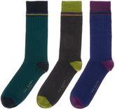 Ted Baker 3 Pack Striped Socks Gift Set