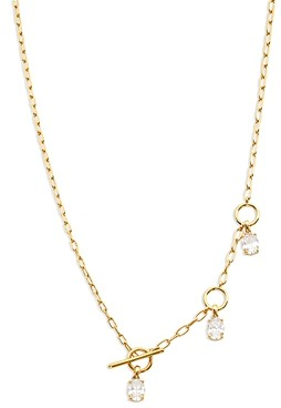 Nadri Lux Cubic Zirconia Adjustable Lariat Necklace, 18