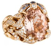 Christian Dior 18K Morganite, Sapphire and Diamond Gourmande Ring